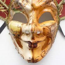 mardi gras wall masks venice city pattern orange smiling jester joker men
