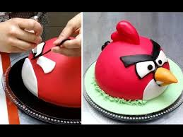 angry birds cake how to make by cakesstepbystep