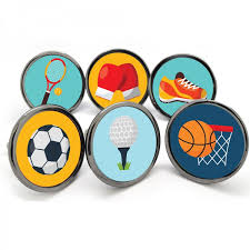 themed knobs unique home accessories homeware and decor sports themed cupboard