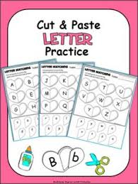 letter matching cut and paste letters and sounds pinterest