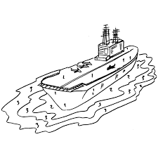 printable military aircraft carrier coloring sheet for boys