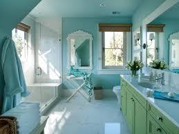 light blue bathroom decor white round shaped ceramic sink black