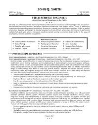 Service Technician Resume Sample Perfect Field Service Engineer Resume Example Featuring Key