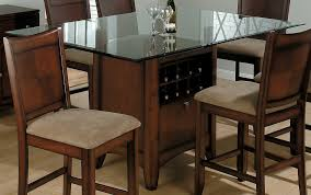 old glass top square dining tables with wood base wine storage ideas