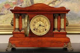 Mantel Clocks Antique Sold Seth Thomas 1890 U0027s Antique Pillar Mantel Clock Faux