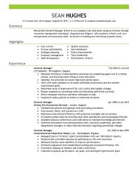general resume exles best general manager resume exle livecareer