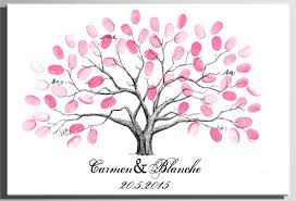 wedding tree guest book diy wedding fingerprint tree guest book painting canvas