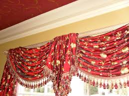 swags with center jabot curtains boutique