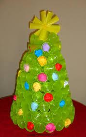 decorazioni bicchieri albero di natale con i bicchieri di plastica natale