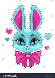 raster illustration cute cartoon bunny stock illustration