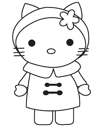 coloring pages for kids hello kitty coloring home