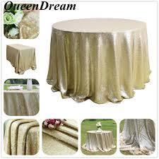 Wedding Linens For Sale 72 U0027 U0027 Round Sparkle Matte Gold Sequin Tablecloth For Wedding Event