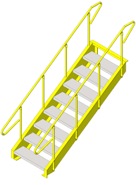 Prefabricated Aluminum Stairs by Lapeyre Stair Inc Metal Stairs Bim Objects Families