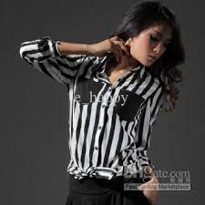 black and white striped blouse 2018 womens fashion stripe chiffon blouse lapel sleeve plus