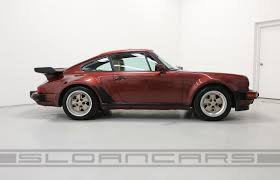 porsche 930 modified 1986 porsche 930 garnet red tan 18 839 miles sloan cars