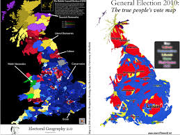 National Election Results Map by Changing Geographical Patterns In British Elections Geocurrents