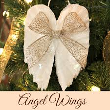 sparkling wing ornaments from coffee filters crafts a la mode