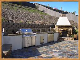 outdoor kitchen and fireplace kitchen decor design ideas