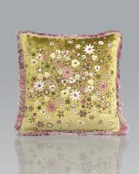 strongwater 14x14 mille fiori pillow strongwater