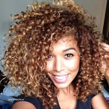 short curly hair biracial best of short curly hairstyles with blonde highlights improvestyle