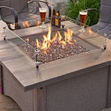 Gas Fire Pit Burner by Pine Ridge Square Gas Fire Pit Table Brown Burner