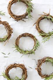Wreaths Diy Rosemary Wreath Place Cards Camille Styles