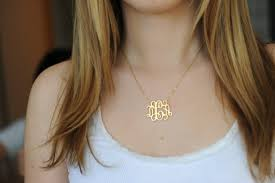 my monogram necklace monogram necklace 1 25 inch personalized monogram sterling