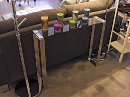 Stainless Steel Sofa Table Modern Glass Console Table
