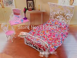 accessoires chambre b dollhouse princesse miroir lit ensemble mobilier de chambre bébé