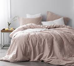 baroque stitch queen duvet cover oversized queen xl ice pink