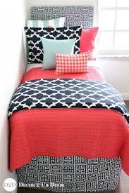 coral orange dorm room bedding