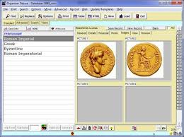 free coin inventory ancient database template for organizer