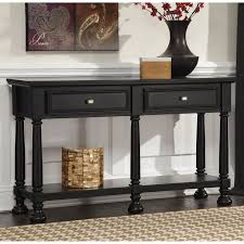 black sofa table with drawers hemnes console table black brown ikea intended for sofa tables idea