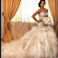 2015 de luxe robes de mariée corset dentelle perlée princesse robe