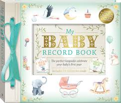 baby record book my baby record book deluxe parenting adults hinkler