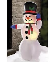 Christmas Decorations For Outside Ebay by 4ft Outdoor Light Up Inflatable Snowman Christmas Tree Decoration