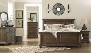 porter bedroom set porter medium brown cal king panel bed