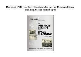 Time Saver For Interior Design Pdf