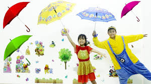 learn colors for kids with umbrella bad baby u0026 bad mommy