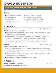 Maintenance Job Resume by 85 Best Resume Template Images On Pinterest Resume Templates