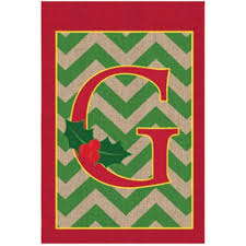 Seasonal Designs Flag Pole Evergreen 3 Ft X 4 1 2 Ft Monogrammed A Applique Estate House