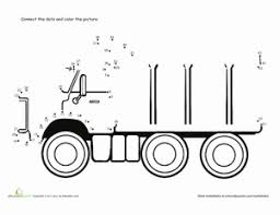 connect the dots dump truck worksheet education com