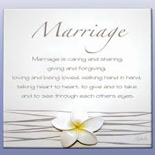wedding poems marriage is caring and giving and forgiving someday