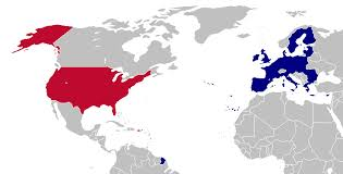 united states map and europe united stateseuropean union relations americans were