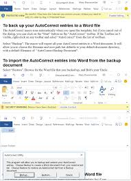 office 365 tip using u0027add to autocorrect u0027 to make you more