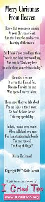 merry christmas from heaven merry christmas from heaven bookmark poem by corbett