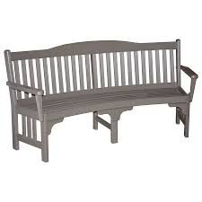 amish made poly curved garden bench