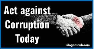 37 best slogans on corruption slogans hub