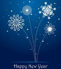 blue new year greeting card free vector in encapsulated postscript