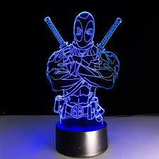 aliexpress com buy usb marvel lampe 3d illusion deadpool lamp